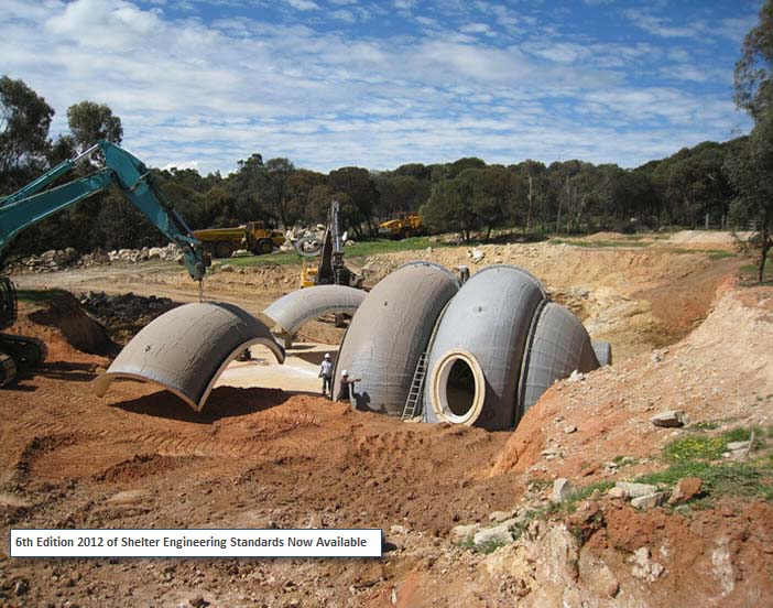 Radius Engineering Underground Domes For Disaster Protection on Earthbag Home House Plans