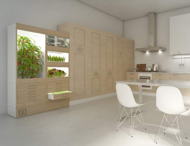 Grow Salad In Your Kitchen Inside This Sleek Sensor-Driven Cabinet | Co.Exist | ideas + impact