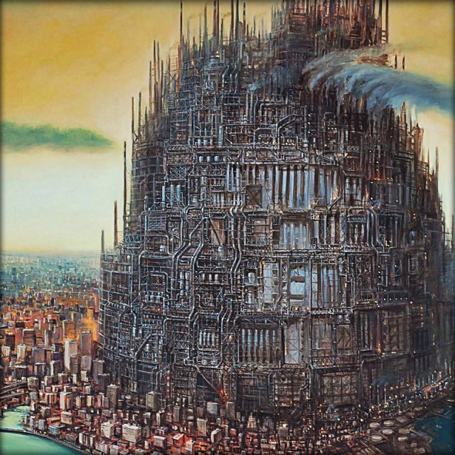These Dystopian Paintings Portend The Terrifying Near Future Of Our Cities   Co.Create   creativity + culture + commerce